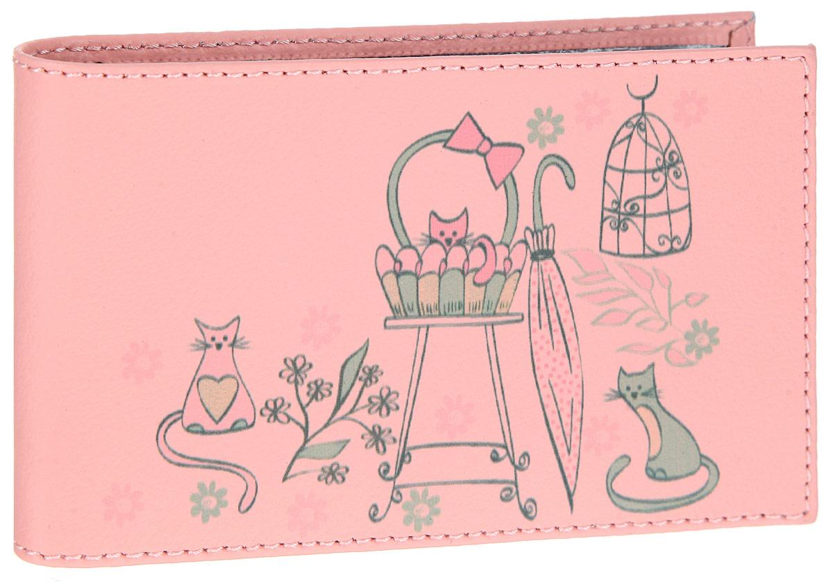 Визитница женская Befler Kitty, цвет: розовый. V.30.-7V.30.-7.KITTY розовыйСтильная визитница Befler Kitty выполнена из натуральной кожи. Изделие оформлено красочным изображением. Визитница раскладывается пополам, внутри размещены двадцать файлов из пластика для визиток или пластиковых карт. Практичная визитница Befler Kitty не только поможет сохранить внешний вид ваших визиток, а также станет стильным аксессуаром, идеально подходящим к вашему образу.