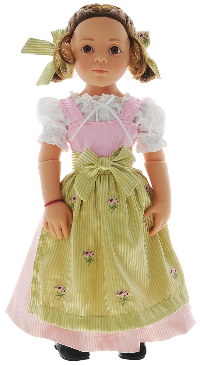 Gotz Кукла Актриса Врони1266011Восхитительная кукла Врони станет замечательным подарком для каждой девочки, а также опытных коллекционеров. С необычной куклой, которая так похожа на настоящую девочку, можно проводить много времени вместе, придумывая увлекательные сюжеты для игр. Кукла Gotz с виниловым подвижным телом подходит для активных игр дома и на улице. У игрушки темные, густые волосы, которые позволяют делать прически, расчесывать и мыть ей голову. Кукла одета в белое пышное платье с поясочком. Реалистичные черты лица и большие глазки с ресницами позволяют ребенку погрузиться в атмосферу игр по настоящему сценарию, повторять сюжеты из жизни и заботиться о маленькой девочке.