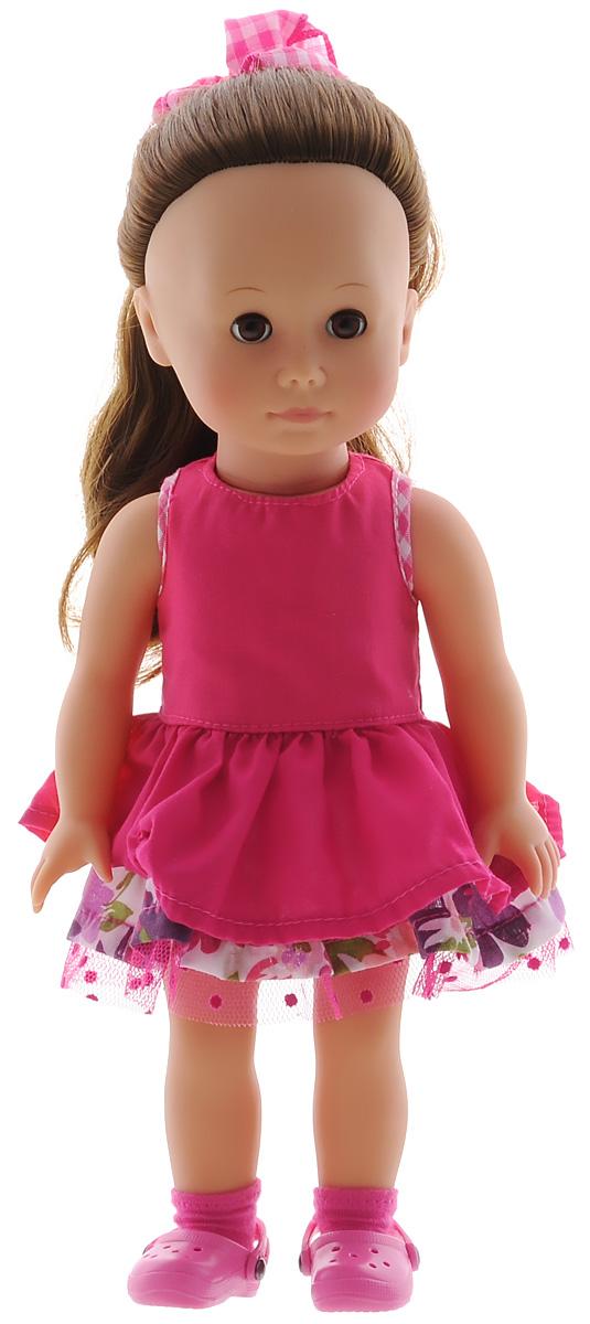 Gotz Кукла Жозефина шатенка с карими глазами1413012Очаровательная кукла Gotz Жозефина с длинными темными волосами и ярким летним платьицем станет замечательным подарком для девочки. С необычной куклой, которая так похожа на настоящую девочку, можно проводить много времени вместе, придумывая увлекательные сюжеты для игр. Голова куклы поворачивается, ножки и ручки двигаются, глазки при наклоне закрываются. Кукла одета в розовое платье и розовые ботиночки. Волосы убраны в пучок, поверх которого повязан клетчатый бантик. Ваша малышка будет часами играть с куклой Gotz Жозефина, придумывая разные истории. Порадуйте ее таким замечательным подарком. Высота куклы 31 см.