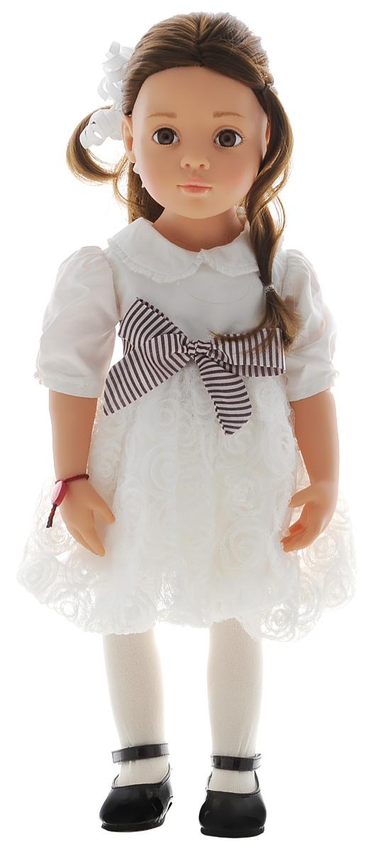 Gotz Кукла Лаура1466026Восхитительная кукла Лаура станет замечательным подарком для каждой девочки, а также опытных коллекционеров. С необычной куклой, которая так похожа на настоящую девочку, можно проводить много времени вместе, придумывая увлекательные сюжеты для игр. Кукла Gotz с виниловым подвижным телом подходит для активных игр дома и на улице. У игрушки темные, густые волосы, которые позволяют делать прически, расчесывать и мыть ей голову. Кукла одета в белое пышное платье с поясочком. Реалистичные черты лица и большие глазки с ресницами позволяют ребенку погрузиться в атмосферу игр по настоящему сценарию, повторять сюжеты из жизни и заботиться о маленькой девочке.