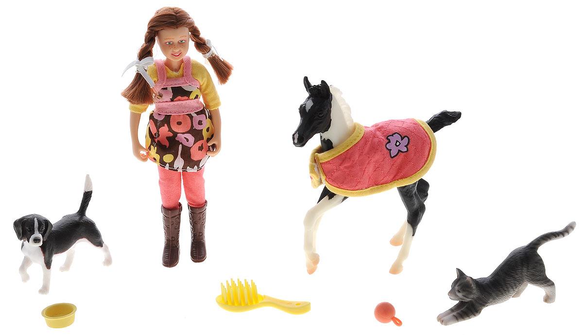Breyer Игровой набор с куклой Няня для домашних животных