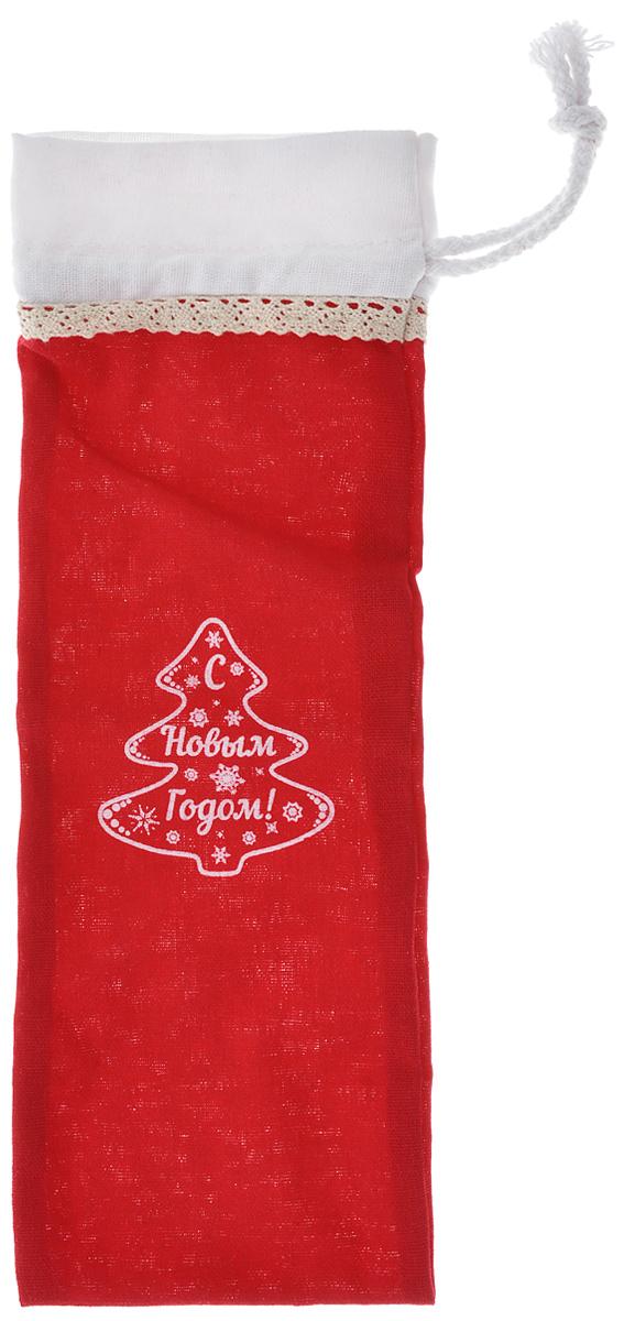 Новогодний мешочек для подарка Феникс-презент Поздравление, цвет: белый, красный, 11 см х 32 см38649Новогодний мешочек для подарка Феникс-презент Поздравление, выполненный из льна, оформлен изображением елочки и надписи: С Новым Годом!. Изделие имеет шнурок, потянув за два конца которого, можно закрыть мешочек. Для удобства переноски можно использовать концы шнурка как ручку. Подарок, преподнесенный в оригинальной упаковке, всегда будет самым эффектным и запоминающимся. Окружите близких людей вниманием и заботой, вручив презент в нарядном, праздничном оформлении.