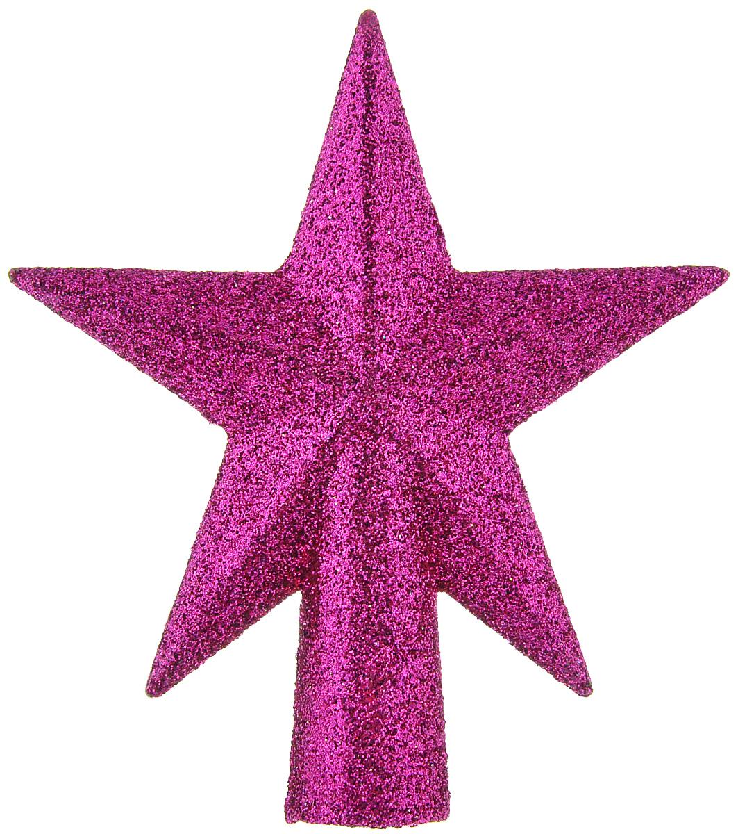 Верхушка на елку Lunten Ranta Сверкающая звезда, цвет: фуксия, высота 10 см65496Верхушка на елку Lunten Ranta Сверкающая звезда прекрасно подойдет для украшения новогодней елки. Изделие выполнено из пластика в виде звезды и декорировано блестками. Верхушка на елку - одно из главных новогодних украшений лесной красавицы. Она принесет в ваш дом ни с чем не сравнимое ощущение праздника!