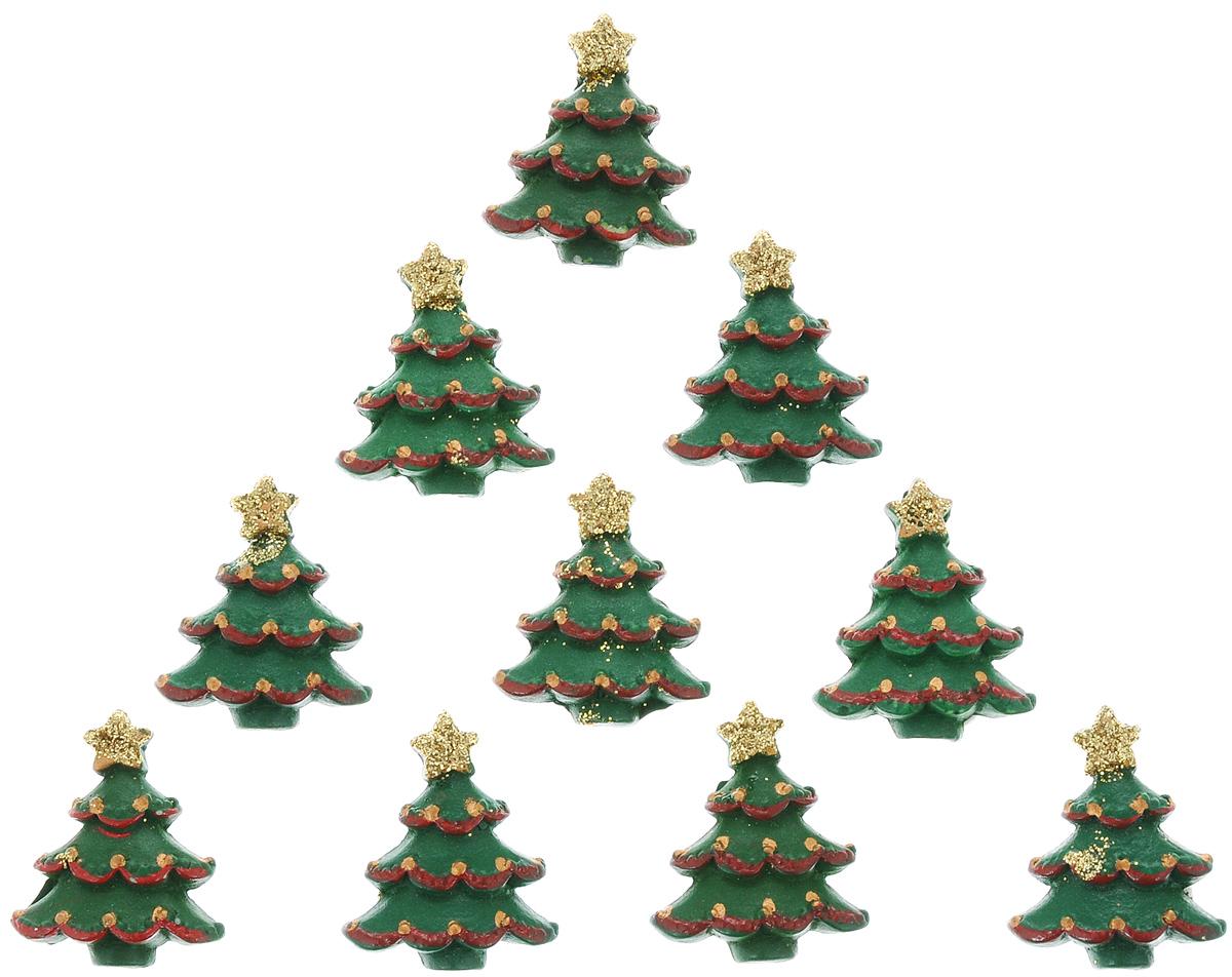 Набор новогодних украшений Lunten Ranta Расписная елка, на стикере, 10 шт63579Декоративные украшения Lunten Ranta Расписная елка изготовлены из полирезина и прекрасно подойдут для декора любой поверхности. Их можно использовать для украшения фотоальбомов, подарков, конвертов и многого другого. В наборе - 12 украшений, которые крепятся к поверхности благодаря бумаге на клейкой основе с обратной стороны изделия. Творчество, рукоделие способно приносить массу приятных эмоций не только человеку, который этим занимается, но и его близким, друзьям, родным. Размер украшения: 3 см х 2,5 см х 0,7 см.