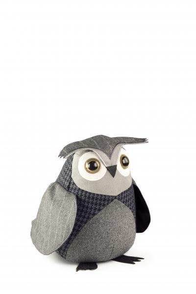 Стоппер для дверей: птица Little Owl /Сыч домовой/, высота 20см, вес 1,2кг (твид100% шерсть, наполнитель песок)DSO01Стоппер для дверей: птица Little Owl /Сыч домовой/, высота 20см, вес 1,2кг (твид100% шерсть, наполнитель песок)