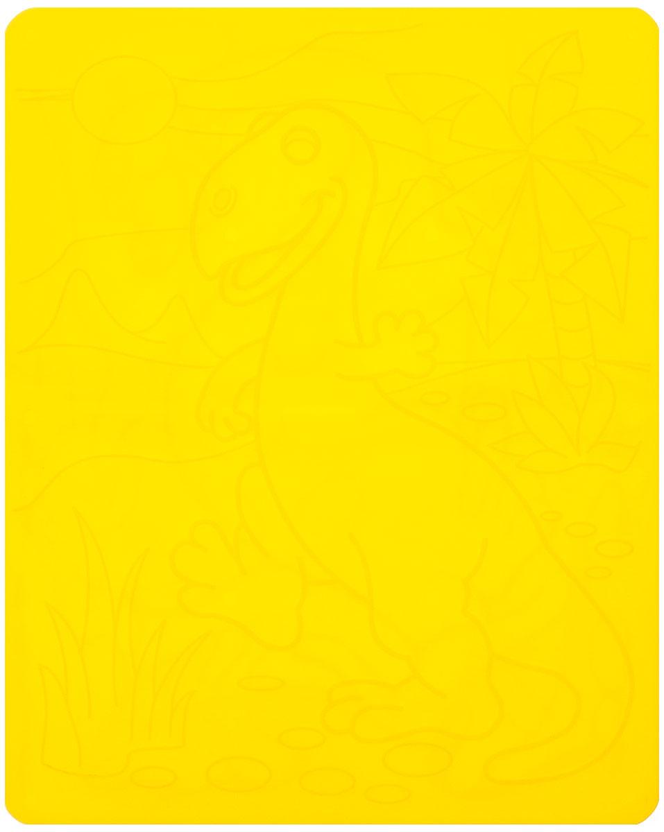 Луч Трафарет рельефный Динозавры цвет желтый16С 1114-08_желтыйНарисуй динозавров в двух разных вариантах с трафаретом Динозавры. Чтобы получить рисунок на бумаге, трафарет кладется под лист, а сверху бумага штрихуется с помощью восковых карандашей. Полученный рисунок можно раскрасить как карандашами, так и акварельными красками. Рельефный трафарет предназначен для развития мелкой моторики и зрительно-двигательной координации, зрительного восприятия и навыков художественной композиции.