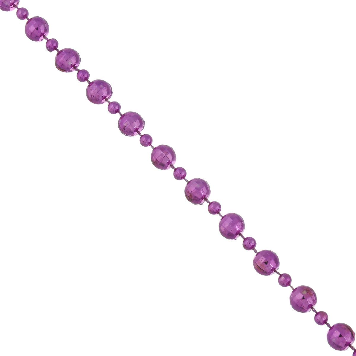 Новогодняя гирлянда Lunten Ranta Диско, цвет: фиолетовый, длина 2 м67Новогодняя гирлянда Lunten Ranta Диско отлично подойдет для декорации вашего дома и новогодней ели. Изделие, выполненное из пластика, представляет собой гирлянду, на текстильной нити, на которой нанизаны круглые бусины разных размеров. Новогодние украшения несут в себе волшебство и красоту праздника. Они помогут вам украсить дом к предстоящим праздникам и оживить интерьер по вашему вкусу. Создайте в доме атмосферу тепла, веселья и радости, украшая его всей семьей. Диаметр бусин: 1 см; 0,4 см.