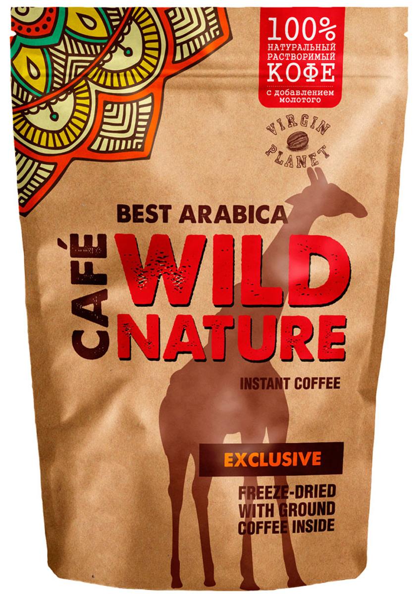 Wild Nature Exclusive кофе растворимый, 75 г5060414010038Wild Nature Exclusive - кофе из Арабики с высокогорных плантаций Индии и Кении. Оптимальное сочетание растворимых гранул и частиц натурального кофе полностью раскрывают насыщенный вкус и аромат. Кофе средней обжарки с легкой горчинкой и винным оттенком вкуса Арабики несомненно придется по вкусу всем любителям этого напитка.