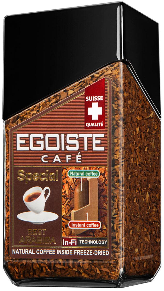 Egoiste Special кофе растворимый, 100 г7610121710516Egoiste Special - насыщенный плотный вкус и неповторимый аромат свежезаваренного кофе из отборных зерен арабики Премиум.