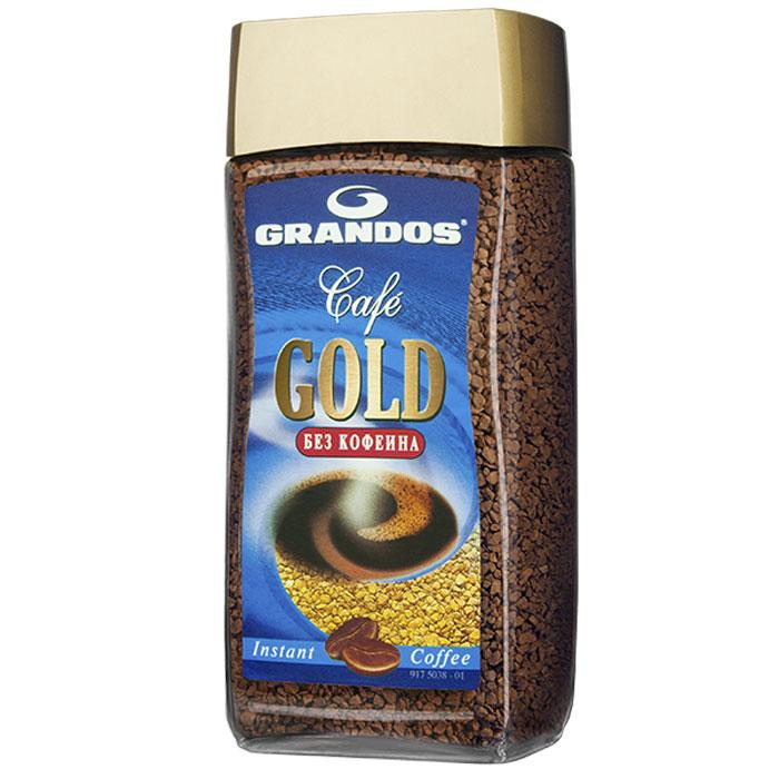 Grandos Gold Decaf кофе растворимый, 100 г4009041102267Высококачественный кофе без кофеина Grandos Gold подарит вам наслаждение ароматом и вкусом любимого кофе в любое время суток.