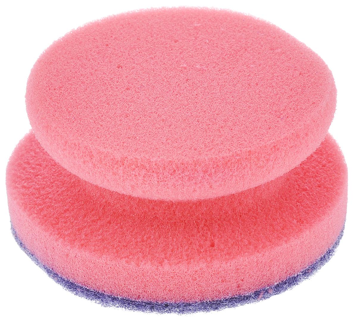 Губка для посуды La Chista Анатомик, с держателем, цвет: розовый, 9,5 см х 9,5 см х 4,5 см870323_розовыйКруглая губка La Chista Анатомик, изготовленная из мягкого поролона с абразивными материалами, предназначена для уборки и мытья посуды. Они идеально удаляют жир, грязь и пригоревшую пищу. Форма губки позволяет удобно ее удерживать. Особенности: Изготовлены из экологически чистого сырья. Не содержит фреонов и метилгидрохлорида. Высокая плотность поролона экономит моющее средство.