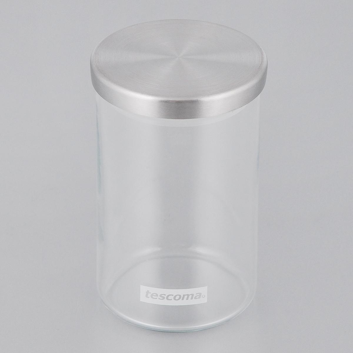 Емкость для специй Tescoma Monti, цвет: прозрачный, металлик, 200 мл894810Емкость для специй Tescoma Monti, изготовленная из прочного боросиликатного стекла, позволит вам хранить разнообразные специи. Емкость оснащена плотно прилегающей крышкой, изготовленной из первоклассной нержавеющей стали и прочной пластмассы и снабженная силиконовой прокладкой. Емкость для хранения специй станет незаменимым помощником на кухне. Можно мыть в посудомоечной машине, крышку - нельзя. Диаметр по верхнему краю: 6 см. Диаметр дна: 6 см. Высота без учета крышки: 10 см. Высота с учетом крышки: 10,7 см. Объем: 0,2 л.