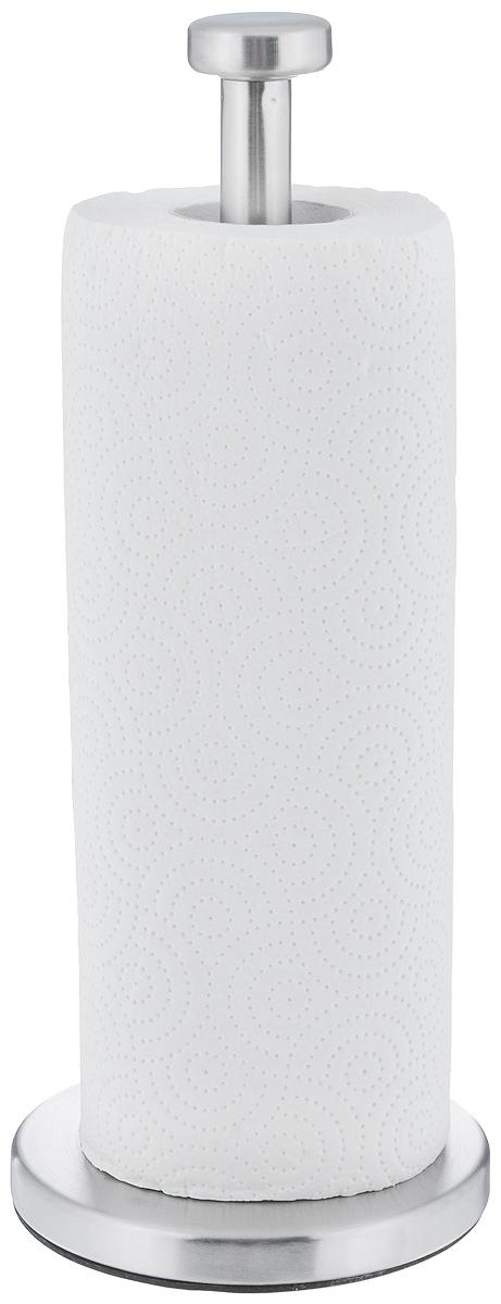 Держатель для бумажных полотенец Zeller. 2724227242Держатель для бумажных полотенец Zeller изготовлен из металла с хромированной поверхностью. Круглое основание обеспечивает устойчивость подставки. Вы можете установить ее в любом удобном месте. Держатель подходит для всех видов кухонных полотенец. Такой держатель для бумажных полотенец станет полезным аксессуаром в домашнем быту и идеально впишется в интерьер современной кухни. В комплекте с держателем - рулон бумажных полотенец для рук. Диаметр основания держателя: 13 см. Высота держателя: 33,5 см.