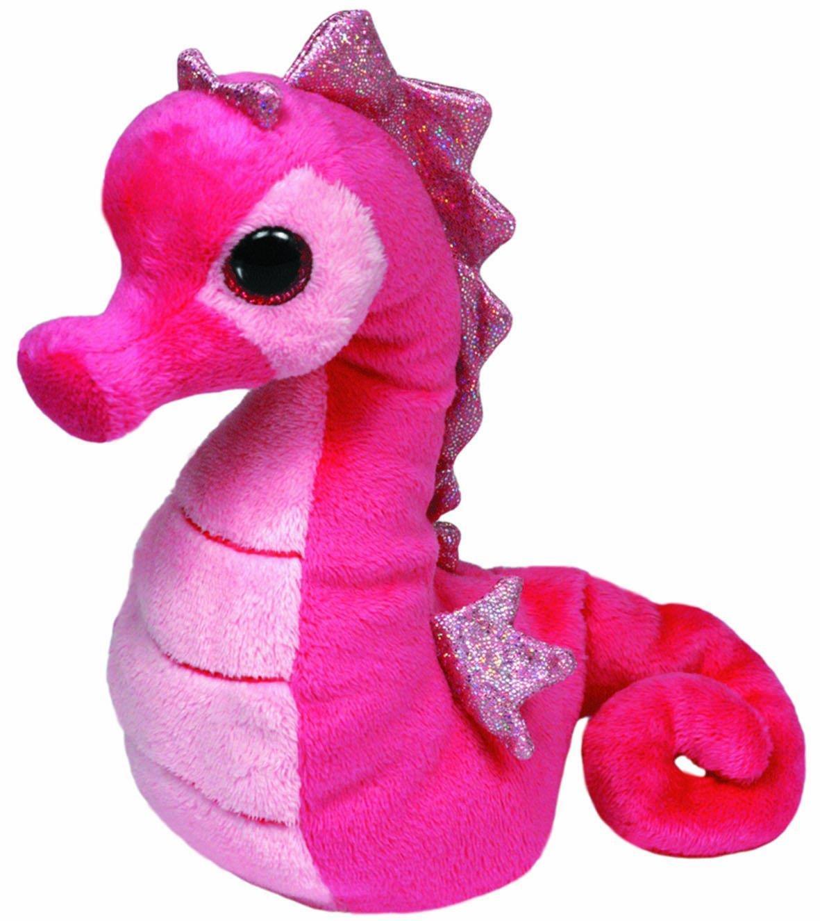 Majestic Мягкая игрушка Beanie Babies Морской конек цвет розовый 17 см42072_розовыйОчаровательная мягкая игрушка Beanie Babies Морской конек, выполненная в виде розового морского конька с большими глазками и блестящими плавниками, вызовет умиление и улыбку у каждого, кто ее увидит. Игрушка станет замечательным подарком, как ребенку, так и взрослому. Удивительно мягкая игрушка принесет радость и подарит своему обладателю мгновения нежных объятий и приятных воспоминаний. Специальные гранулы, используемые при ее набивке, способствуют развитию мелкой моторики рук малыша. В качестве набивки используется синтепон. Великолепное качество исполнения делают эту игрушку чудесным подарком к любому празднику.