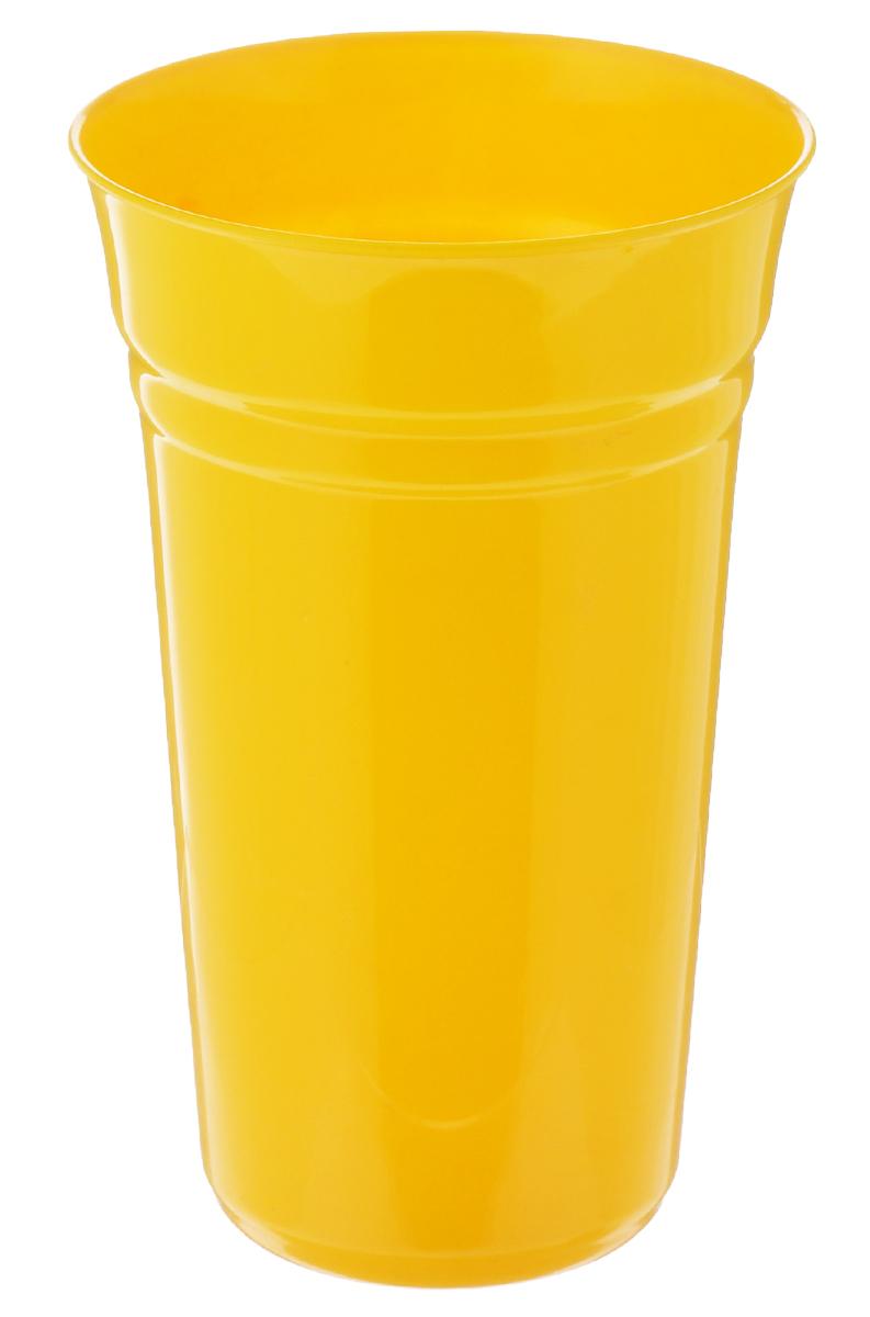 Стакан Berossi Patio, цвет: желтый, 800 млИК09134000Стакан Berossi Patio изготовлен из прочного высококачественного пластика. Изделие предназначено для воды, сока и других напитков. Стакан сочетает в себе яркий дизайн и функциональность. Благодаря такому стакану пить напитки будет еще вкуснее. Стакан Berossi Patio можно использовать дома, на даче или на пикнике. Диаметр стакана по верхнему краю: 10 см. Высота стакана: 15,5 см. Диаметр основания: 6,5 см.