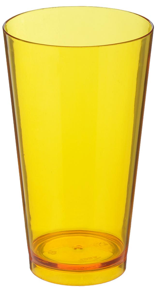 Стакан Idea Кристалл, цвет: оранжевый, 600 млМ 1366Стакан Idea Кристалл изготовлен из прочного высококачественного полистирола. Изделие предназначено для воды, сока и других напитков. Стакан сочетает в себе яркий дизайн и функциональность. Благодаря такому стакану пить напитки будет еще вкуснее. Стакан Idea Кристалл можно использовать дома, на даче или на пикнике. Диаметр стакана по верхнему краю: 9 см. Высота стакана: 15,5 см. Диаметр основания: 6 см.