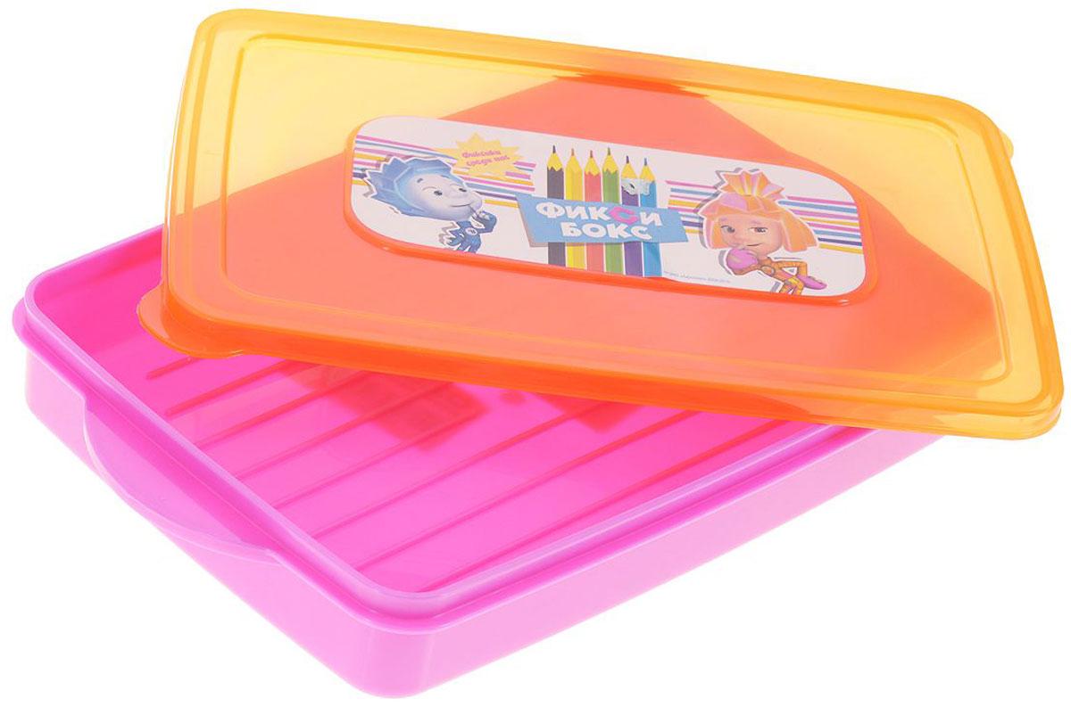 Полимербыт Контейнер Фиксики для фломастеров и карандашей цвет розовый оранжевый 600 мл