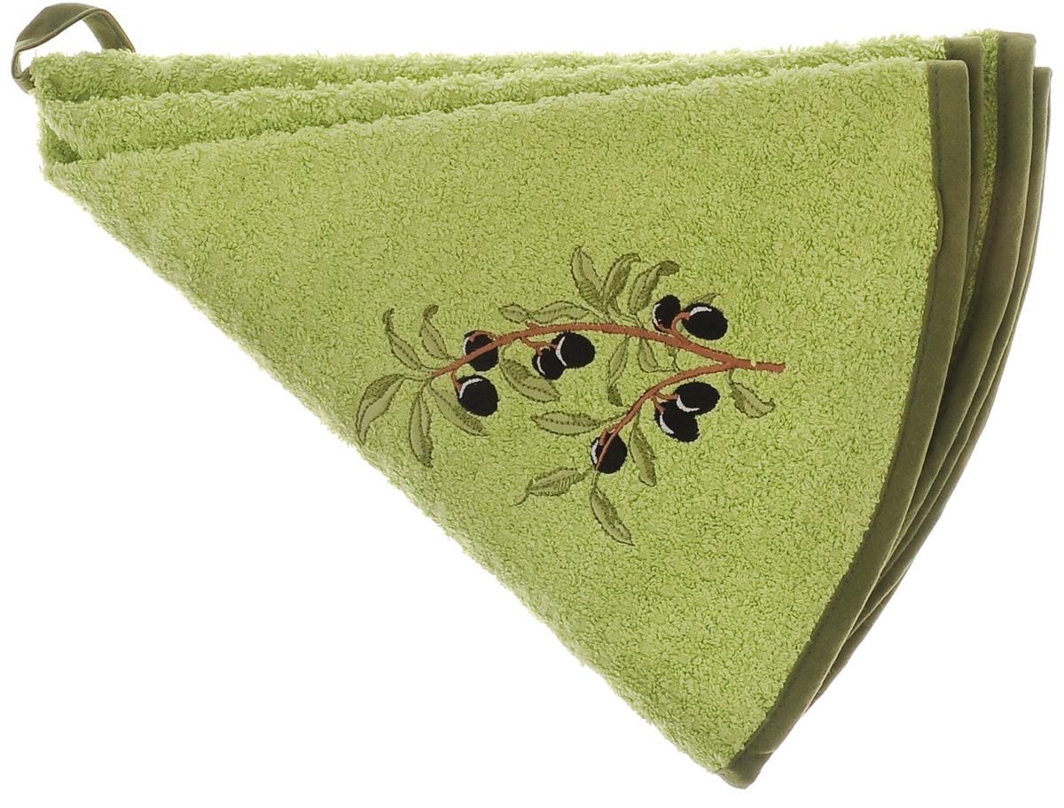 Полотенце кухонное Mariposa Комфорт. Олива, цвет: зеленый, оливковый, диаметр 70 см72563Круглое кухонное полотенце Mariposa Комфорт. Олива изготовлено из 100% хлопка, поэтому является экологически чистыми. Качество материала гарантирует безопасность не только взрослых, но и самых маленьких членов семьи. Изделие очень мягкое и пушистое,с плотной невысокой махрой, оснащено удобной петелькой и украшено оригинальной вышивкой. Кухонные полотенца Mariposa сделают интерьер вашей кухни стильным и гармоничным. Диаметр полотенца: 70 см.
