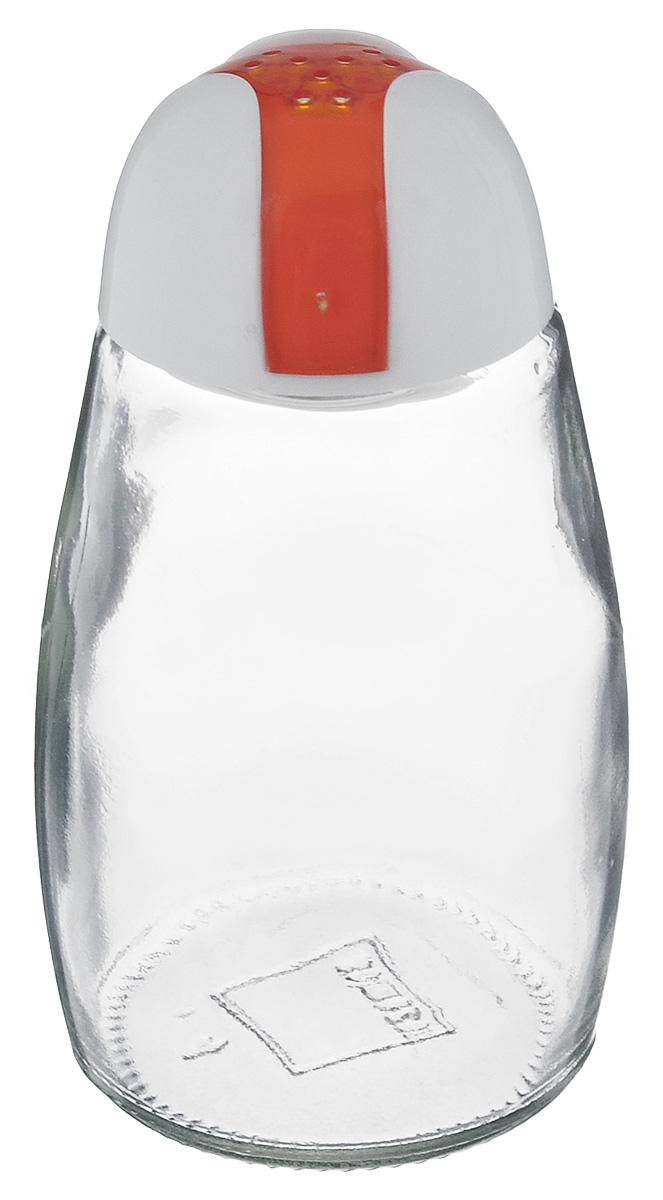 Банка для специй Herevin, цвет: белый, оранжевый, 105 мл. 121012-000121012-000_белый, оранжевыйБанка для специй Herevin выполнена из прозрачного стекла и оснащена пластиковой цветной крышкой с отверстиями, благодаря которым, вы сможете приправить блюда, просто перевернув банку. Крышка легко откручивается, благодаря чему засыпать приправу внутрь очень просто. Такая баночка станет достойным дополнением к вашему кухонному инвентарю. Можно мыть в посудомоечной машине. Объем: 105 мл. Диаметр (по верхнему краю): 2 см. Высота банки (без учета крышки): 9 см.