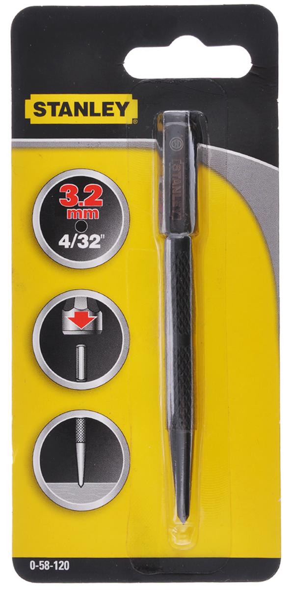 Кернер Stanley, 3,2 мм0-58-120_черныйКернер Stanley - ручной слесарный инструмент, предназначен для разметки центральных лунок для начальной установки сверла и иной визуальной разметки. Изделие имеет фрезерованный цельнометаллический корпус и полированную носовую часть с фаской. Длина изделия: 10,1 см.