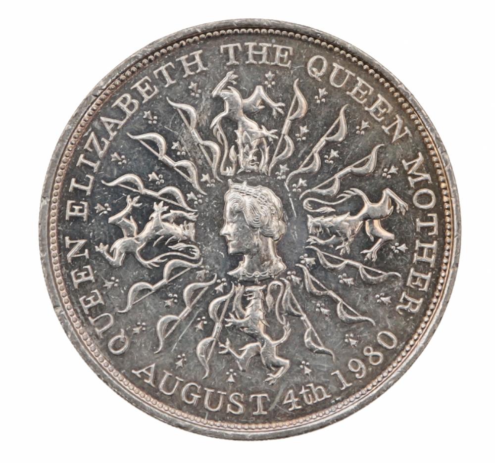 Монета номиналом 25 новых пенсов 80 летний юбилей королевы-матери Елизаветы. Великобритания, 1980 год324006Диаметр: 38,61 мм. Вес: 28,32 гр. Материал: медно-никелевый сплав.