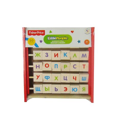 Fisher Price Кубики Веселый алфавит-перевертыш3059530 деревянных кубиков перевертышей. Алфавит + Мозайка