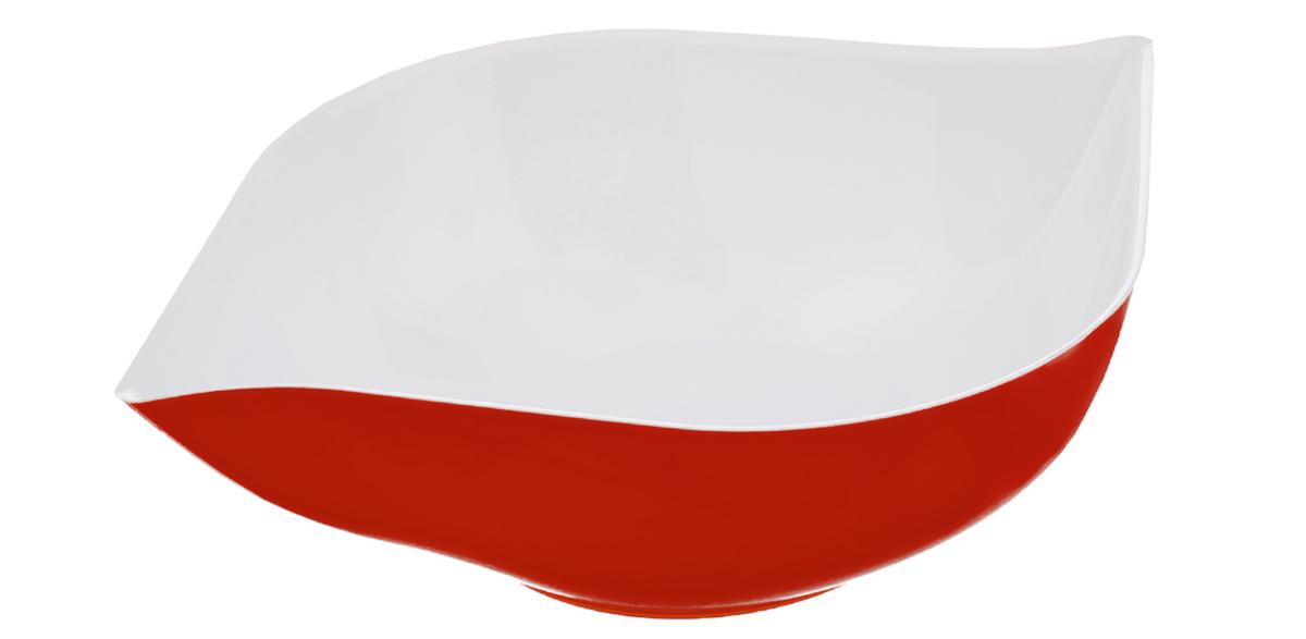 Салатник Berossi Estel, цвет: красный, белый, 500 млИК10512000Салатник Berossi Estel изготовлен из высококачественного пищевого пластика. Такой салатник прекрасно подойдет для сервировки салатов, фруктов, ягод. Прекрасный вариант для дачи и отдыха на природе. Объем: 500 мл. Размер (по верхнему краю): 19 см х 15 см. Высота стенки: 5 см.
