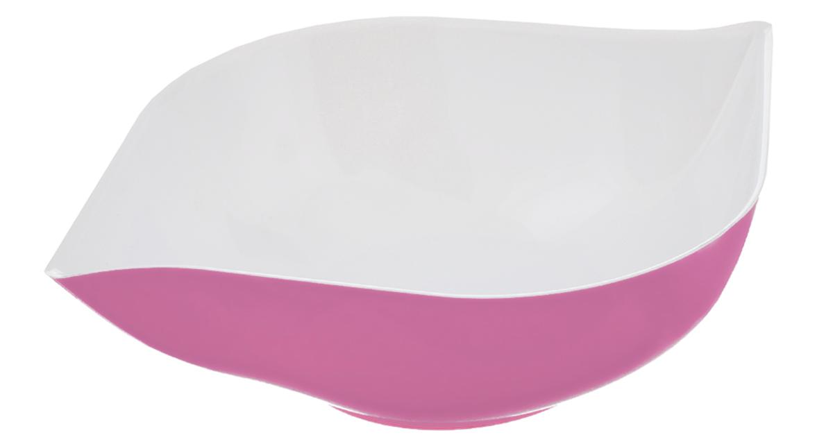 Салатник Berossi Estel, цвет: фламинго, белый, 1 лИК12649000Салатник Berossi Estel изготовлен из высококачественного пищевого пластика. Такой салатник прекрасно подойдет для сервировки салатов, фруктов, ягод. Прекрасный вариант для дачи и отдыха на природе. Объем: 1 л. Размер (по верхнему краю): 24 см х 19 см. Высота стенки: 6,5 см.