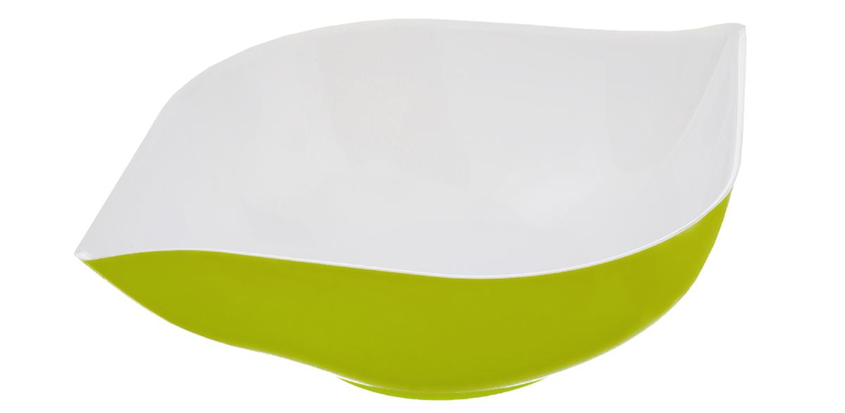 Салатник Berossi Estel, цвет: светло-зеленый, белый, 1 лИК12648000Салатник Berossi Estel изготовлен из высококачественного пищевого пластика. Такой салатник прекрасно подойдет для сервировки салатов, фруктов, ягод. Прекрасный вариант для дачи и отдыха на природе. Объем: 1 л. Размер (по верхнему краю): 24 см х 19 см. Высота стенки: 6,5 см.