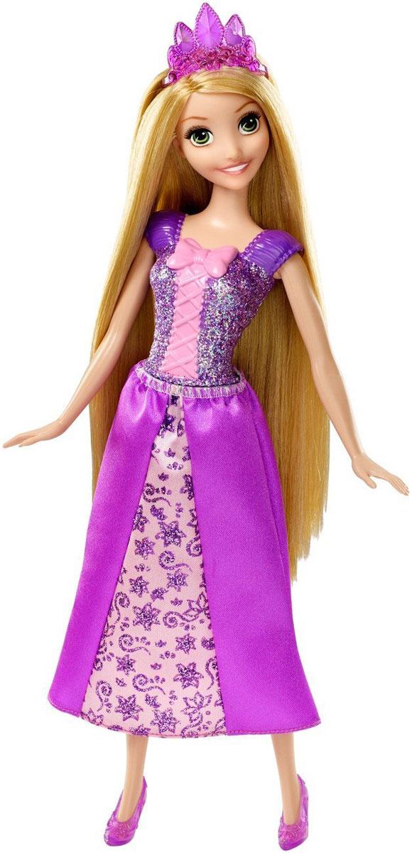 Disney Princess Кукла Принцесса Рапунцель цвет платья фиолетовый розовыйCFF68Кукла Disney Принцесса Рапунцель станет отличным подарком для любой девочки. Принцессы всегда выглядят ослепительно. И это не шутки: ведь платье Рапунцель так ярко сияет! Наряд всеобщей любимцы состоит из пластикового фиолетового лифа, усыпанного блестками и украшенного розовым бантом и длинной текстильной юбки. Яркий наряд дополнен короной и полупрозрачными туфельками в тон юбки. Рапунцель в таком платье - просто красавица! Не забывайте расчесывать длинные волосы куклы, ведь к ним нужно проявлять особенное внимание. Рапунцель будет очень рада новой заботливой подружке, вместе с которой можно весело играть. Кукла произведена компанией Mattel, вот уже много десятилетий выпускающей сверхпопулярных Barbie. Рапунцель - это все та же классическая Барби, которая так нравится девочкам, с лицом, нарядом и аксессуарами принцессы из любимого мультика. Эта кукла создана для настоящей принцессы!