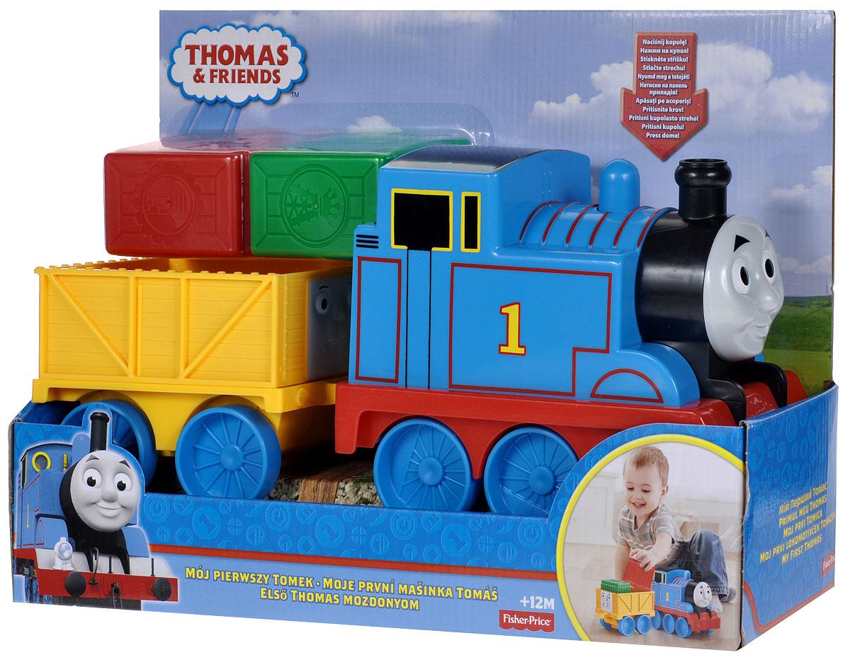 Thomas&Friends Игровой набор Первый паровозик малышаBCX71Большой паровозик Томас, умеющий свистеть при толкании его вперед и назад, а также его друг-прицеп, везущий груз из цветных блоков, отправляются в приключение! Игровой набор Thomas&Friends Первый паровозик малыша привлечет внимание вашего ребенка и не позволит ему скучать. В набор входят паровоз Томас, прицепной вагон и груз в виде двух пластиковых цветных блоков. Ваш ребенок часами будет играть с набором, придумывая разные истории!