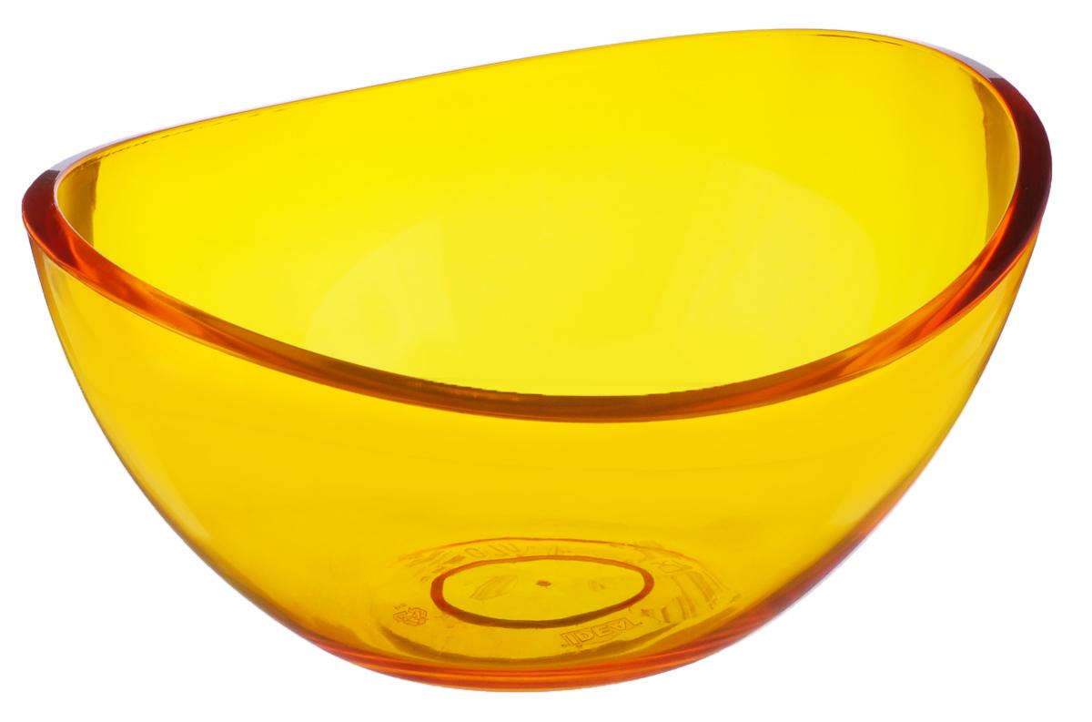 Салатник Idea Кристалл, цвет: оранжевый, 700 млМ 1350Салатник Idea Кристалл изготовлен из высококачественного пищевого полистирола. Такой салатник прекрасно подойдет для сервировки салатов, фруктов, ягод. Прекрасный вариант для дачи и отдыха на природе. Объем: 700 мл. Размер (по верхнему краю): 16,5 см х 14 см. Высота стенки: 7,6 см.