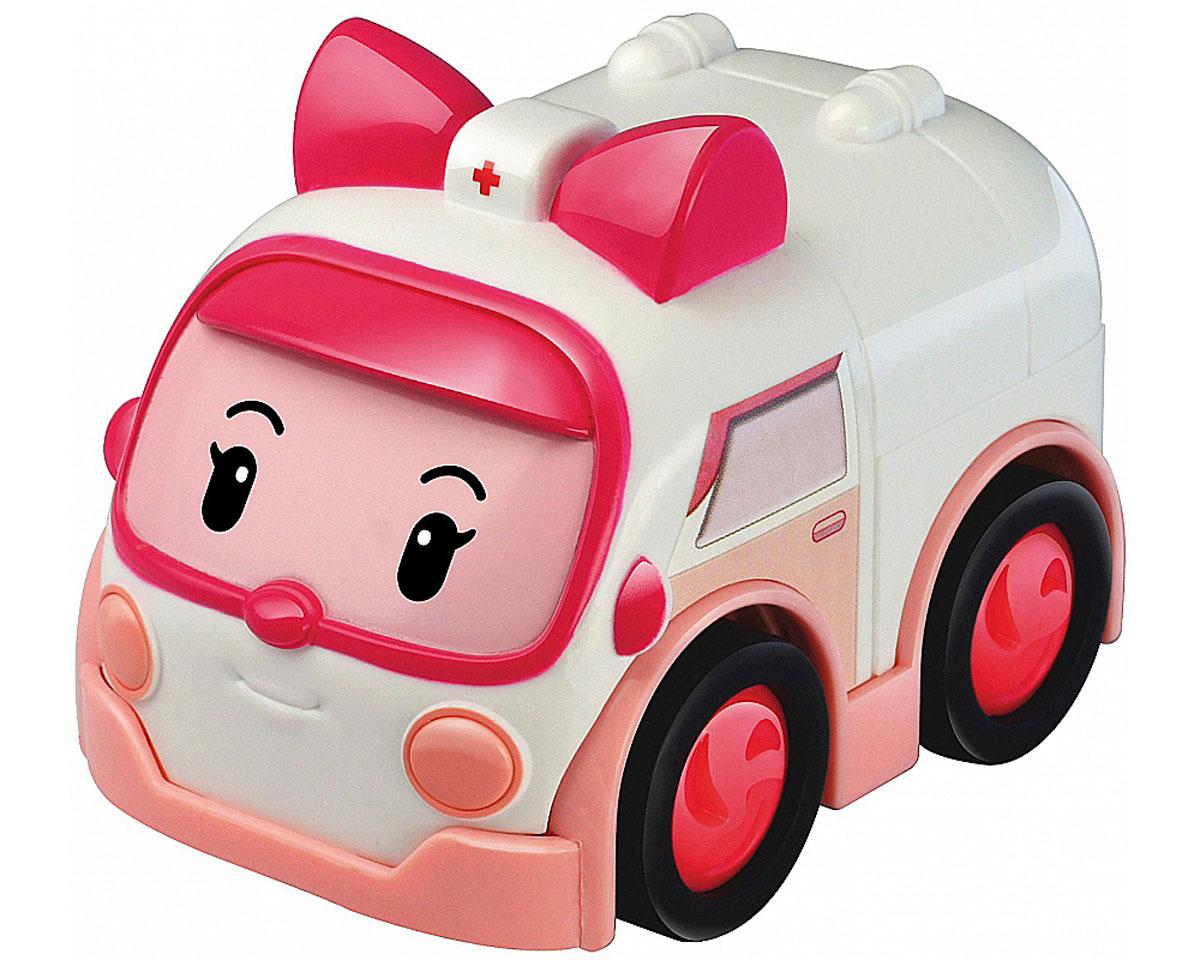 Robocar Poli Машинка Эмбер83163Яркая игрушка Poli Машинка Эмбер непременно понравится вашему малышу. Она выполнена из металла с элементами пластика в виде машинки скорой помощи Эмбер - персонажа популярного мультсериала Robocar Poli. Эмбер оснащена колесиками со свободным ходом, позволяющими катать машинку. Благодаря небольшому размеру ребенок сможет взять игрушку с собой на прогулку, в поездку или в гости. Порадуйте своего малыша таким замечательным подарком!