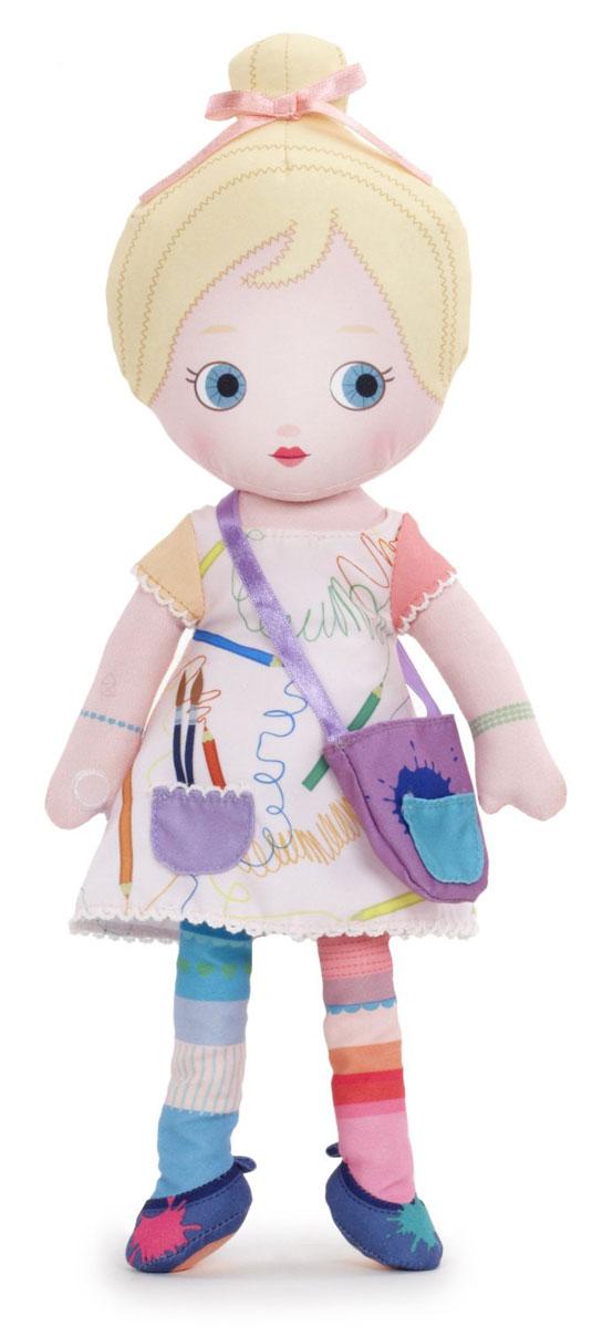 Mooshka Кукла Ina940-266_INAОчаровательная мягкая кукла Кукла Mooshka Ina непременно станет любимой игрушкой вашей малышки. Кукла выполнена из приятного на ощупь текстиля и не имеет твердых элементов, что делает игру с ней безопасной даже для самых маленьких малышей. Куколка одета в длинное платье, украшенное принтом в виде карандашных штрихов. На ручках куклы расположены липучки. Также в комплект входит небольшая пальчиковая куколка, которая разнообразит игры малышки и позволит ей проявить свою фантазию, разыгрывая веселые преставления. Ина обожает творчество! Она любит рисовать красками и карандашами, заниматься лепкой, и придумывать новое. Трогательная мягкая куколка принесет радость и подарит своей обладательнице мгновения нежных объятий и приятных воспоминаний. Благодаря играм с куклой, ваша малышка сможет развить воображение и любознательность, овладеть навыками общения и научиться ответственности.