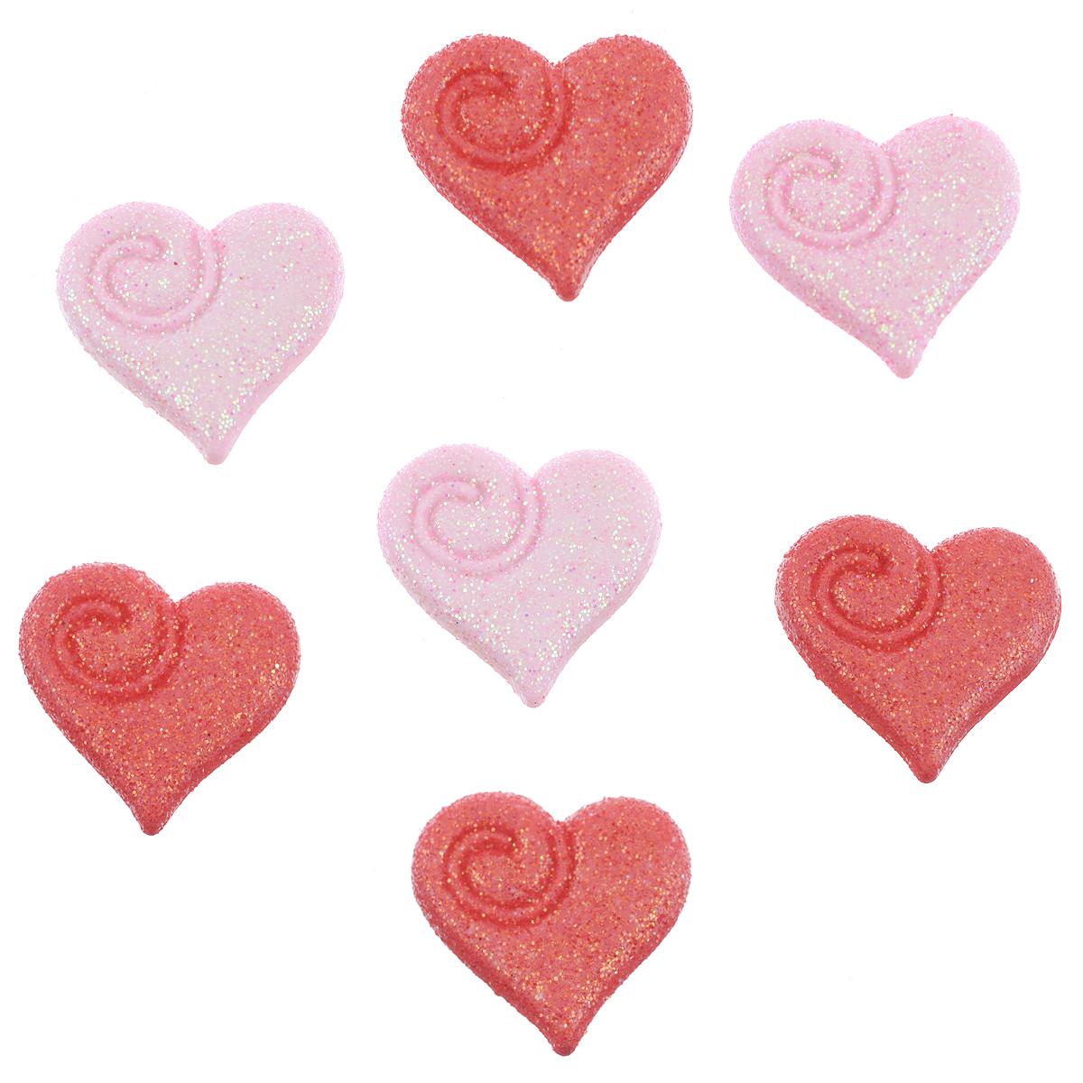 Пуговицы декоративные Buttons Galore & More My Love, 7 шт7708812Набор Buttons Galore & More My Love состоит из 7 декоративных пуговиц. Все элементы выполнены из пластика в виде сердец. Такие пуговицы подходят для любых видов творчества: скрапбукинга, декорирования, шитья, изготовления кукол, а также для оформления одежды. С их помощью вы сможете украсить открытку, фотографию, альбом, подарок и другие предметы ручной работы. Пуговицы разных цветов имеют оригинальный и яркий дизайн. Размер пуговицы: 2 см х 1,8 см х 0,5 см.