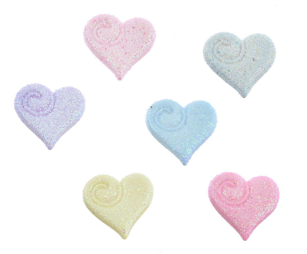 Пуговицы декоративные Buttons Galore & More Shimmering Hearts, 6 шт7708809Набор Buttons Galore & More Shimmering Hearts состоит из 6 декоративных пуговиц. Все элементы выполнены из пластика в виде сердец. Такие пуговицы подходят для любых видов творчества: скрапбукинга, декорирования, шитья, изготовления кукол, а также для оформления одежды. С их помощью вы сможете украсить открытку, фотографию, альбом, подарок и другие предметы ручной работы. Пуговицы разных цветов имеют оригинальный и яркий дизайн. Размер пуговицы: 2 см х 1,8 см х 0,5 см.