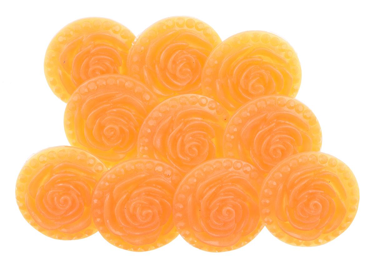 Пуговицы декоративные Астра Розочки, цвет: апельсиновый (13), диаметр 18 мм, 10 шт7708633_13Набор Астра Розочки, изготовленный из пластика, состоит из 10 круглых декоративных пуговиц в виде роз. С помощью них вы сможете украсить одежду, подарок, открытку, фотографию, альбом и другие предметы ручной работы. Такие пуговицы станут незаменимым элементом в создании рукотворного шедевра. Диаметр пуговицы: 18 мм.