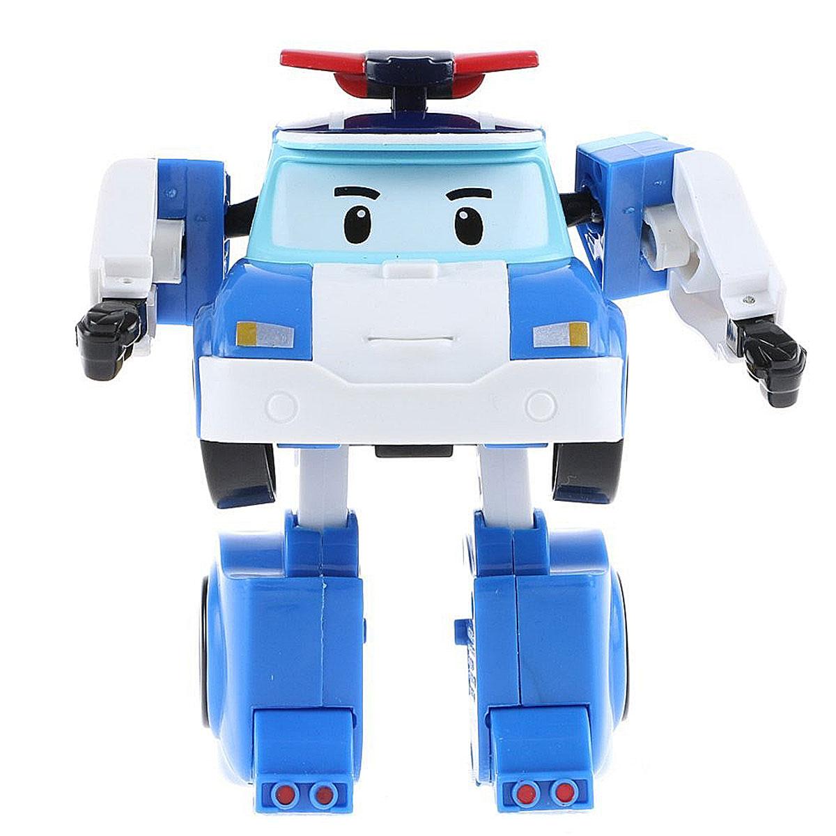 Robocar Poli Игрушка-трансформер Поли цвет белый голубой83171Оригинальная игрушка-трансформер Поли надолго займет внимание вашего ребенка. Игрушка выполнена из безопасного пластика белого и голубого цветов в виде Поли. Игрушка имеет две вариации: первая - мальчик-робот, вторая - полицейская машина. Эта игрушка непременно понравится вашему малышу. Порадуйте ребенка таким замечательным подарком!