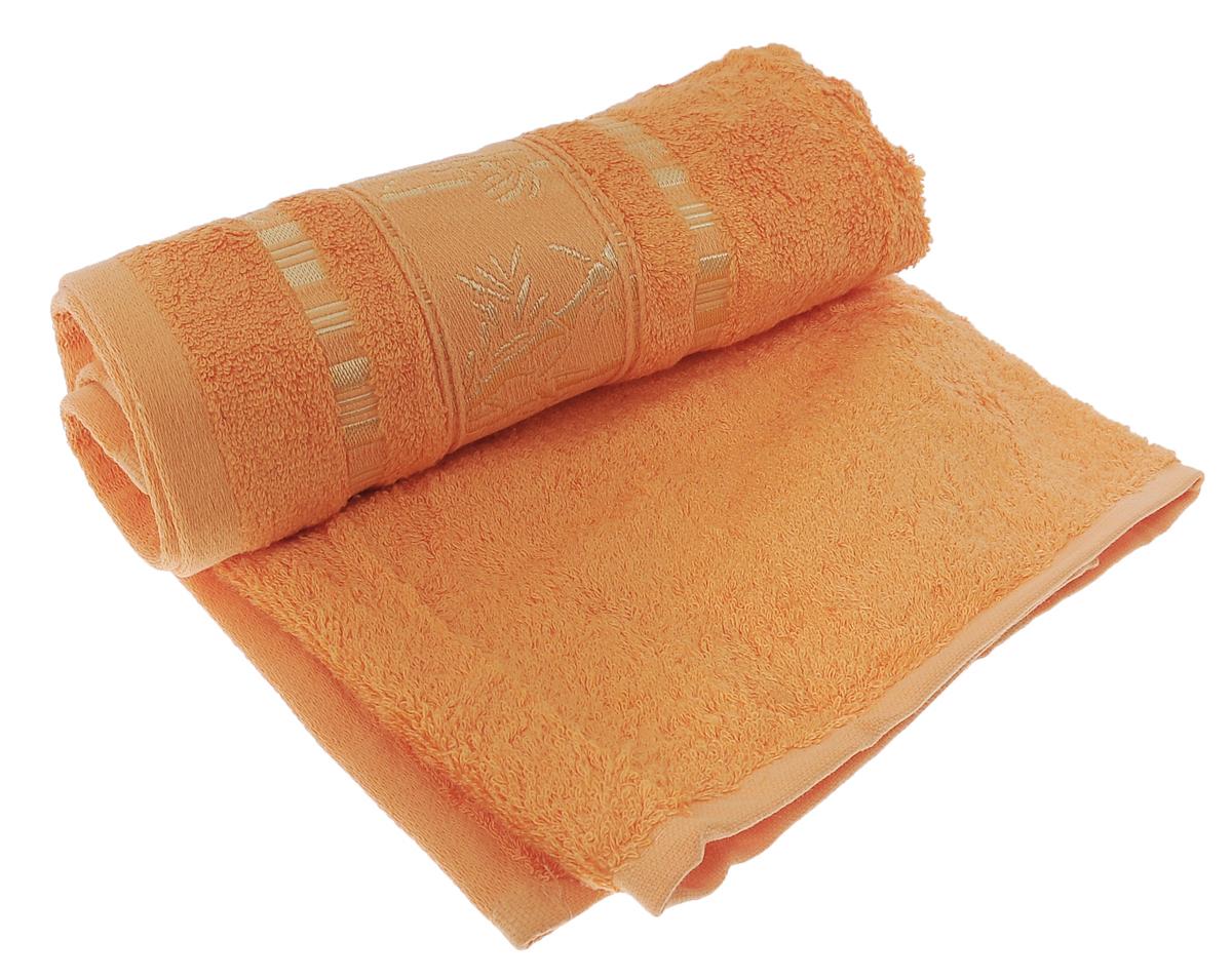 Полотенце Mariposa Bamboo, цвет: оранжевый, 50 х 90 см62333Полотенце Mariposa Bamboo, изготовленное из 60% бамбука и 40% хлопка, подарит массу положительных эмоций и приятных ощущений. Полотенца из бамбука только издали похожи на обычные. На самом деле, при первом же прикосновении вы ощутите невероятную мягкость и шелковистость. Таким полотенцем не нужно вытираться - только коснитесь кожи - и ткань сама все впитает! Несмотря на богатую плотность и высокую петлю полотенца, оно быстро сохнет, остается легким даже при намокании. Благородный тон создает уют и подчеркивает лучшие качества махровой ткани. Полотенце Mariposa Bamboo станет достойным выбором для вас и приятным подарком для ваших близких. Размер полотенца: 50 см х 90 см.
