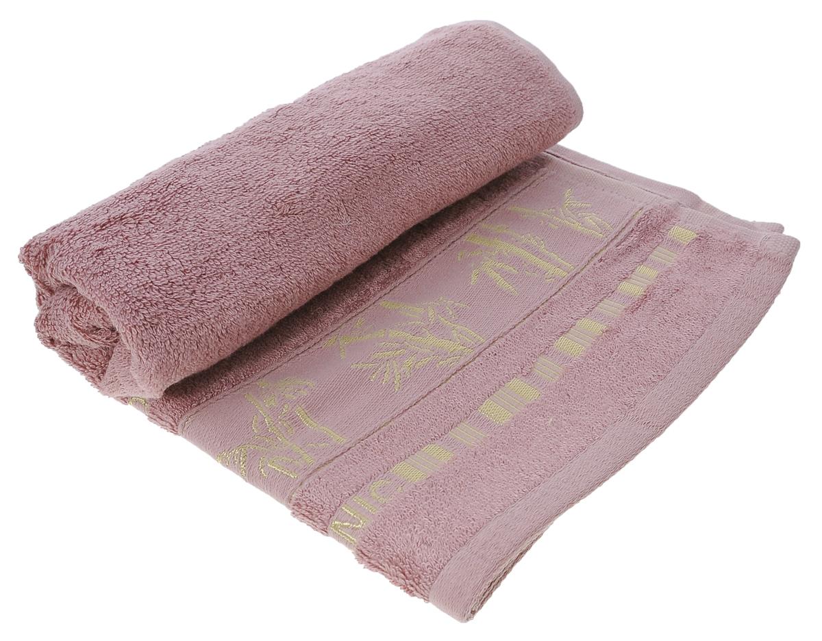 Полотенце Mariposa Bamboo, цвет: темно-розовый, 50 см х 90 см50849Полотенце Mariposa Bamboo, изготовленное из 60% бамбука и 40% хлопка, подарит массу положительных эмоций и приятных ощущений. Полотенца из бамбука только издали похожи на обычные. На самом деле, при первом же прикосновении вы ощутите невероятную мягкость и шелковистость. Таким полотенцем не нужно вытираться - только коснитесь кожи - и ткань сама все впитает! Несмотря на богатую плотность и высокую петлю полотенца, оно быстро сохнет, остается легким даже при намокании. Благородный тон создает уют и подчеркивает лучшие качества махровой ткани. Полотенце Mariposa Bamboo станет достойным выбором для вас и приятным подарком для ваших близких. Размер полотенца: 50 см х 90 см.