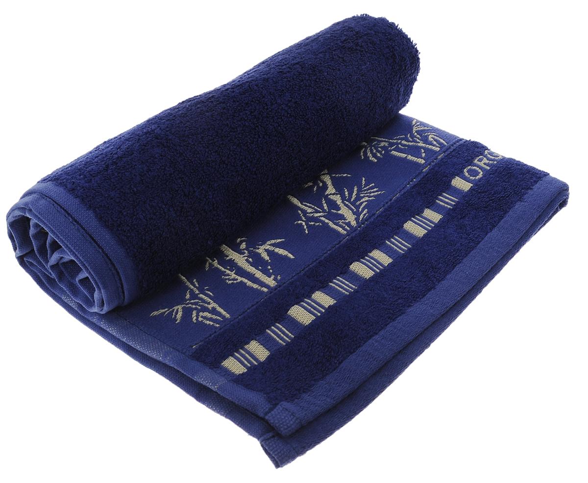 Полотенце Mariposa Bamboo, цвет: темно-синий, 50 см х 90 см52919Полотенце Mariposa Bamboo, изготовленное из 60% бамбука и 40% хлопка, подарит массу положительных эмоций и приятных ощущений. Полотенца из бамбука только издали похожи на обычные. На самом деле, при первом же прикосновении вы ощутите невероятную мягкость и шелковистость. Таким полотенцем не нужно вытираться - только коснитесь кожи - и ткань сама все впитает! Несмотря на богатую плотность и высокую петлю полотенца, оно быстро сохнет, остается легким даже при намокании. Благородный тон создает уют и подчеркивает лучшие качества махровой ткани. Полотенце Mariposa Bamboo станет достойным выбором для вас и приятным подарком для ваших близких. Размер полотенца: 50 см х 90 см.