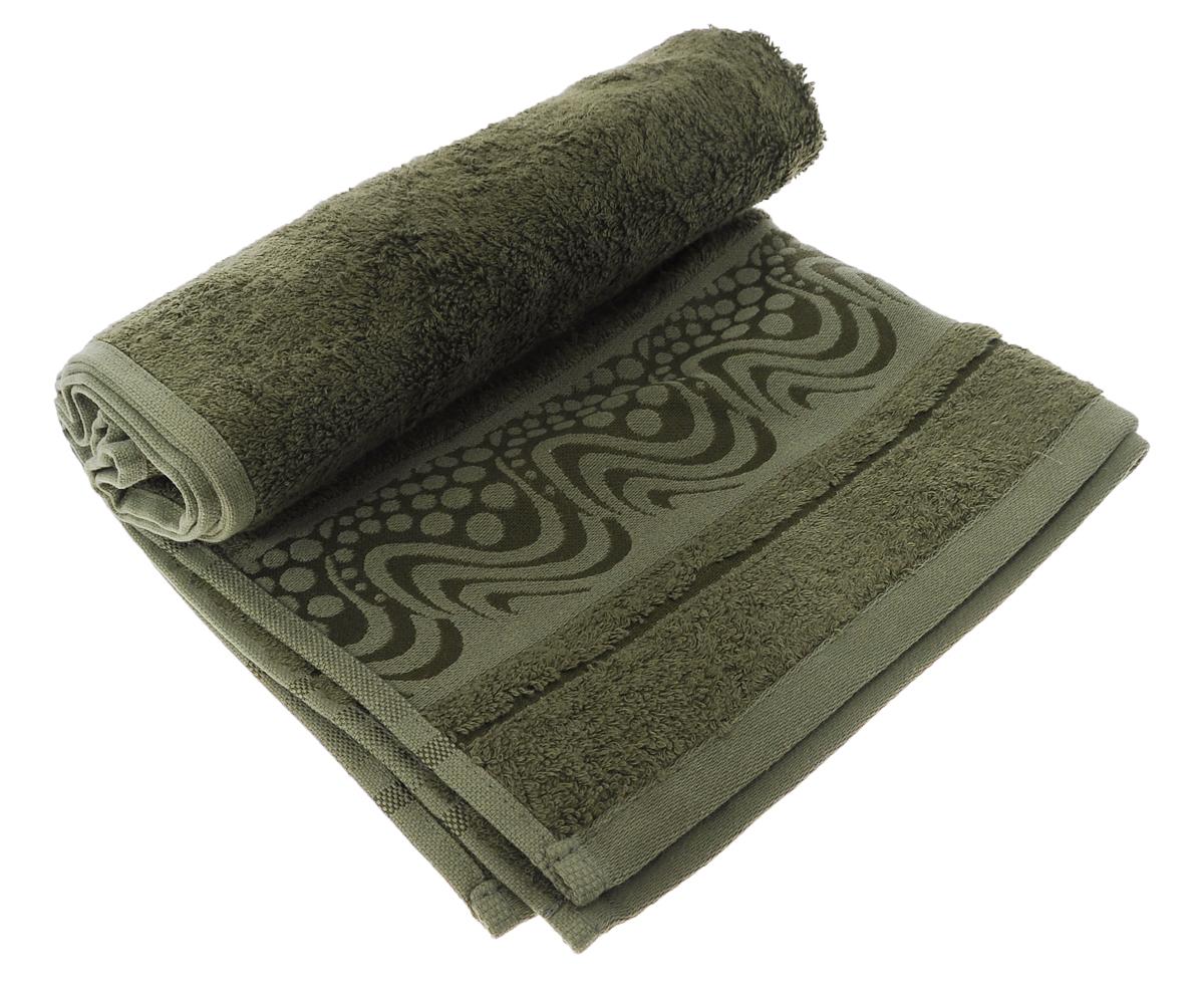 Полотенце Mariposa Aqua, цвет: зеленый, 50 см х 90 см62415Полотенце Mariposa Aqua, изготовленное из 60% бамбука и 40% хлопка, подарит массу положительных эмоций и приятных ощущений. Полотенца из бамбука только издали похожи на обычные. На самом деле, при первом же прикосновении вы ощутите невероятную мягкость и шелковистость. Таким полотенцем не нужно вытираться - только коснитесь кожи - и ткань сама все впитает! Несмотря на богатую плотность и высокую петлю полотенца, оно быстро сохнет, остается легким даже при намокании. Полотенце оформлено волнистым рисунком. Благородный тон создает уют и подчеркивает лучшие качества махровой ткани. Полотенце Mariposa Aqua станет достойным выбором для вас и приятным подарком для ваших близких. Размер полотенца: 50 см х 90 см.