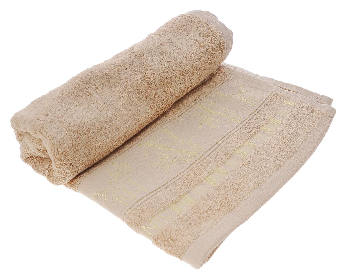 Полотенце Mariposa Bamboo, цвет: бежевый, 50 см х 90 см50825Полотенце Mariposa Bamboo, изготовленное из 60% бамбука и 40% хлопка, подарит массу положительных эмоций и приятных ощущений. Полотенца из бамбука только издали похожи на обычные. На самом деле, при первом же прикосновении вы ощутите невероятную мягкость и шелковистость. Таким полотенцем не нужно вытираться - только коснитесь кожи - и ткань сама все впитает! Несмотря на богатую плотность и высокую петлю полотенца, оно быстро сохнет, остается легким даже при намокании. Благородный тон создает уют и подчеркивает лучшие качества махровой ткани. Полотенце Mariposa Bamboo станет достойным выбором для вас и приятным подарком для ваших близких. Размер полотенца: 50 см х 90 см.