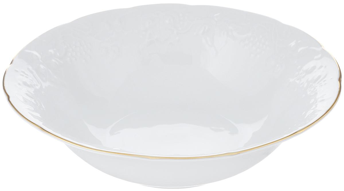 Салатник La Rose Des Sables Vendanges, цвет: белый, золотистый, диаметр 25 см6 916 251 009Салатник La Rose Des Sables Vendanges, выполненный из высококачественного фарфора, декорирован рельефным изображением цветов. Салатник сочетает в себе изысканный дизайн с максимальной функциональностью. Салатник La Rose Des Sables Vendanges идеально подойдет для сервировки стола и станет отличным подарком к любому празднику. Не рекомендуется использовать в посудомоечной машине и микроволновой печи. Диаметр салатника (по верхнему краю): 25 см. Высота стенки: 7 см.