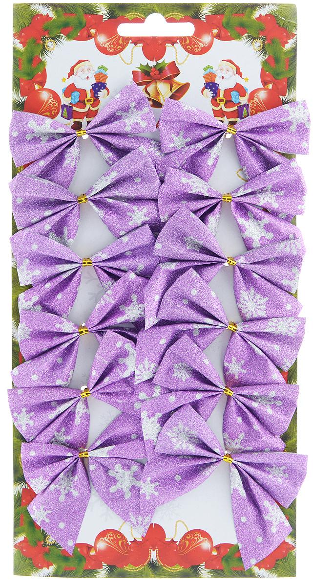 Набор новогодних украшений Феникс-Презент Бант, цвет: лиловый, 12 шт. 3919339193Набор новогодних украшений Феникс-Презент Бант прекрасно подойдет для праздничного декора новогодней ели. Набор состоит из 12 бантов, изготовленных из полиэстера. Для удобного размещения на елке с оборотной стороны банты оснащены двумя проволоками. Коллекция декоративных украшений принесет в ваш дом ни с чем не сравнимое ощущение волшебства! Откройте для себя удивительный мир сказок и грез. Почувствуйте волшебные минуты ожидания праздника, создайте новогоднее настроение вашим дорогим и близким. Размер украшения: 7 см х 5 см.