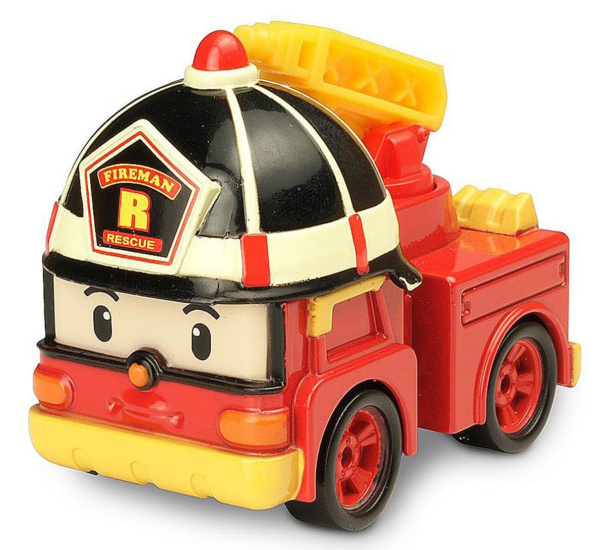 Robocar Poli Машинка инерционная Рой83180Яркая машинка Poli Рой непременно понравится вашему малышу. Она выполнена из прочного материала в виде пожарной машинки Роя - персонажа популярного мультсериала Robocar Poli. Машинка оснащена инерционным механизмом. Стоит откатить игрушку назад, слегка надавив на крышу, затем отпустить - и Рой быстро поедет вперед. Благодаря небольшому размеру ребенок сможет машинку с собой на прогулку, в поездку или в гости. Порадуйте своего малыша таким замечательным подарком!