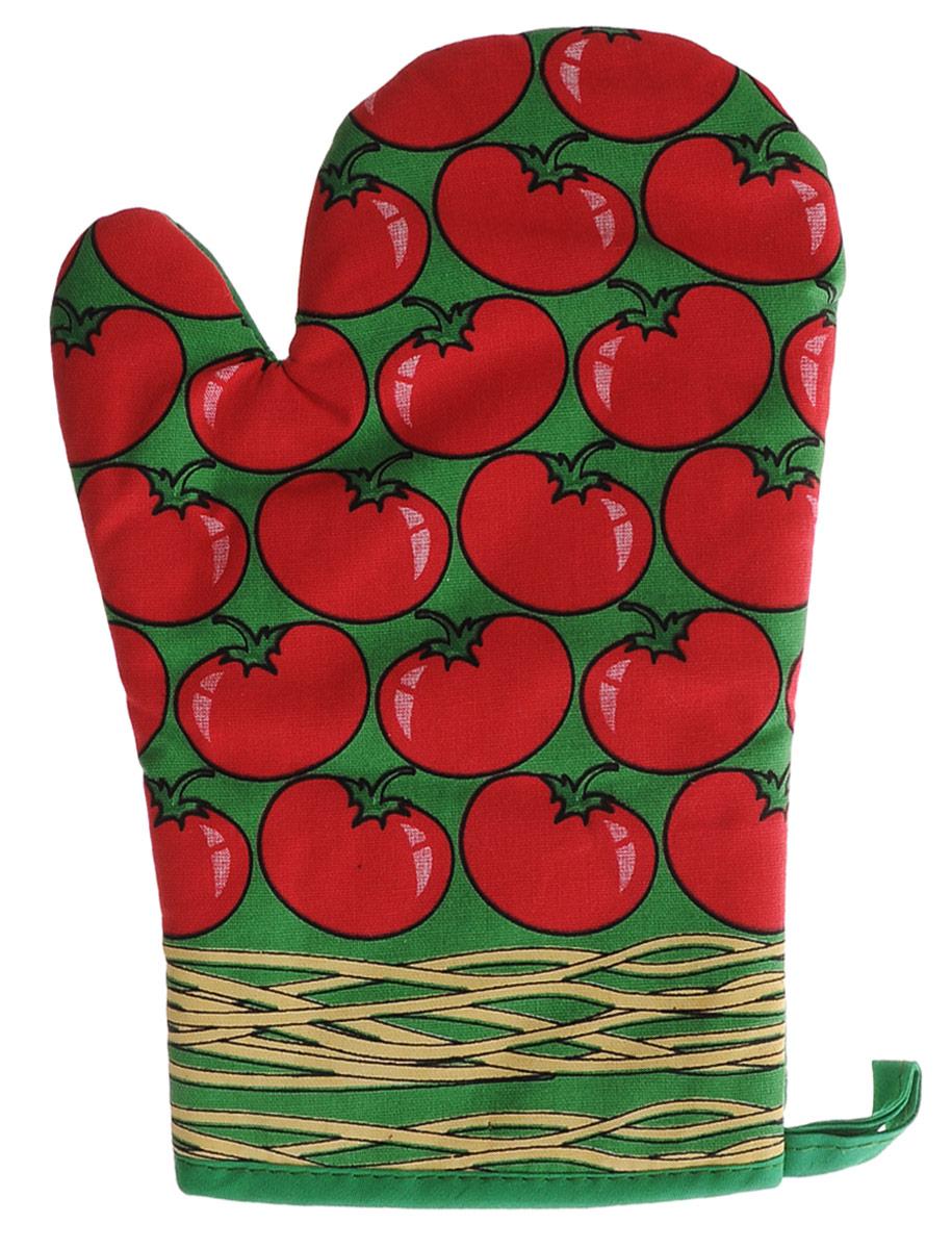 Варежка-прихватка Bon Appetit Италия, 17 см х 26 см57893Варежка-прихватка Bon Appetit Италия, изготовленная из 100% хлопка, оформлена оригинальным и ярким рисунком. Изделие защитит руки от воздействия высоких температур и предотвратит появление ожогов. Прихватка оснащена петелькой, за которую с легкостью подвешивается. Такая варежка-прихватка станет отличный подарком для практичной и современной хозяйки.