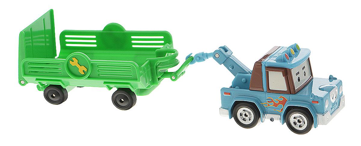 Robocar Poli Эвакуатор с прицепом Спуки83100Яркая игрушка Robocar Poli Спуки непременно понравится вашему малышу. Она выполнена из металла с элементами из пластика в виде эвакуатора Спуки - героя популярного мультсериала Robocar Poli. Снуки оснащен колесиками со свободным ходом, позволяющими катать машинку. В комплект входит прицеп. Благодаря небольшому размеру ребенок сможет взять игрушку с собой на прогулку, в поездку или в гости. Порадуйте своего малыша таким замечательным подарком! Такая игрушка помогает развивать у ребенка моторику и цветовое восприятие.