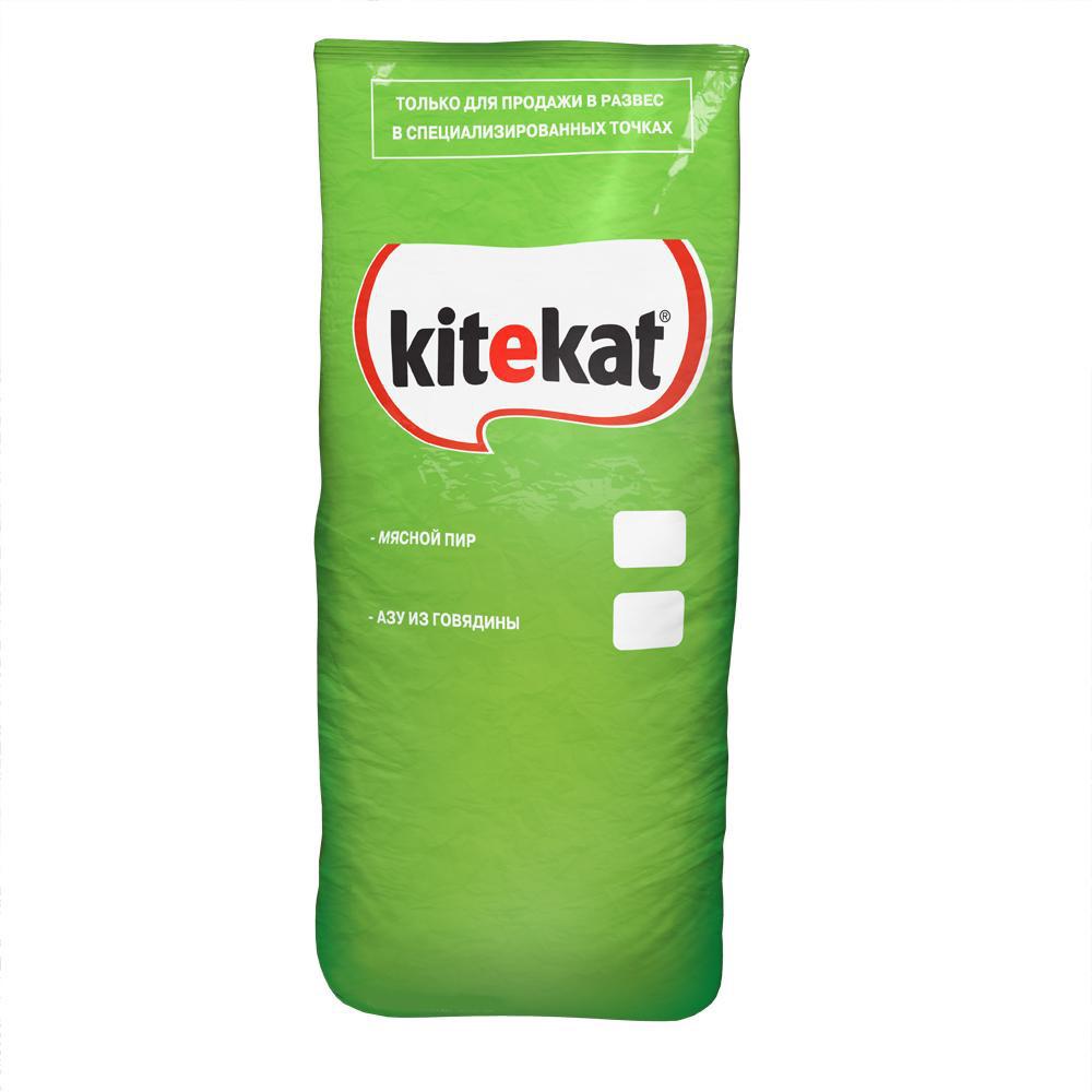 Корм сухой для взрослых кошек Kitekat, телятина аппетитная, 15 кг40421