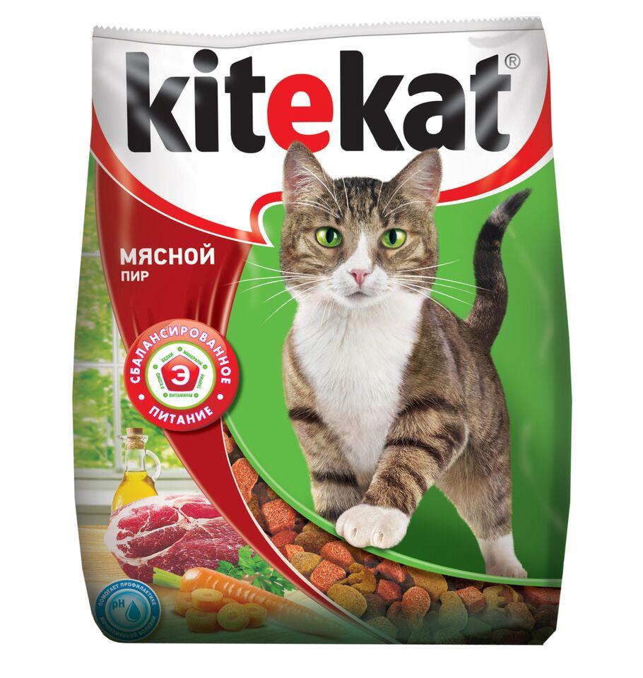 Корм сухой для кошек Kitekat, мясной пир, 350 г40424Корм Kitekat - это полноценная еда, которая содержит все необходимое для вашей кошки. Kitekat Мясной Пир приготовлен из таких же качественных натуральных продуктов, которые вы используете дома для своих близких: мясные ингредиенты, овощи, растительное масло и крупы. Kitekat знает, как правильно их сбалансировать для энергии и здоровья вашего кота. Состав: злаки, мясо и субпродукты, белковые растительные экстракты, жиры животного происхождения, растительные масла (источник омега-6), овощи, пивные дрожжи, витамины и минеральные вещества. Анализ: белки-28 г; жиры-10 г; зола-8 г: клетчатка-не более 5 г; влажность-не более 10 г; кальций -1,2 г; фосфор - 0,8 г; витамин А - 1200 ME; витамин D - 120 ME; витамин Е - 6 мг; а также витамин В2, витамин В12, пантотеновая кислота, биотин, витамин В1, витамин В6, ниацин, таурин, метионин. Товар сертифицирован.